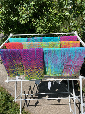 Handwoven Hand Dyed Kitchen Towel