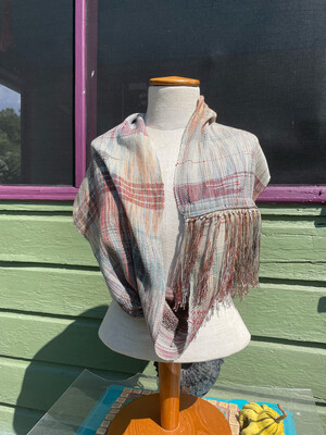Hand Dyed Handwoven Seacell/Tencel Infinity Scarf
