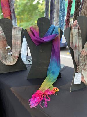 Hand Dyed Handwoven Tencel Rainbow 🌈 Scarf