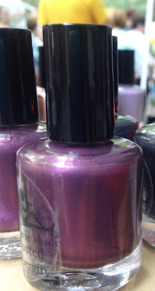Frosted Aubergine Nail Polish