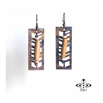 Aztec Style Geometric Earrings
