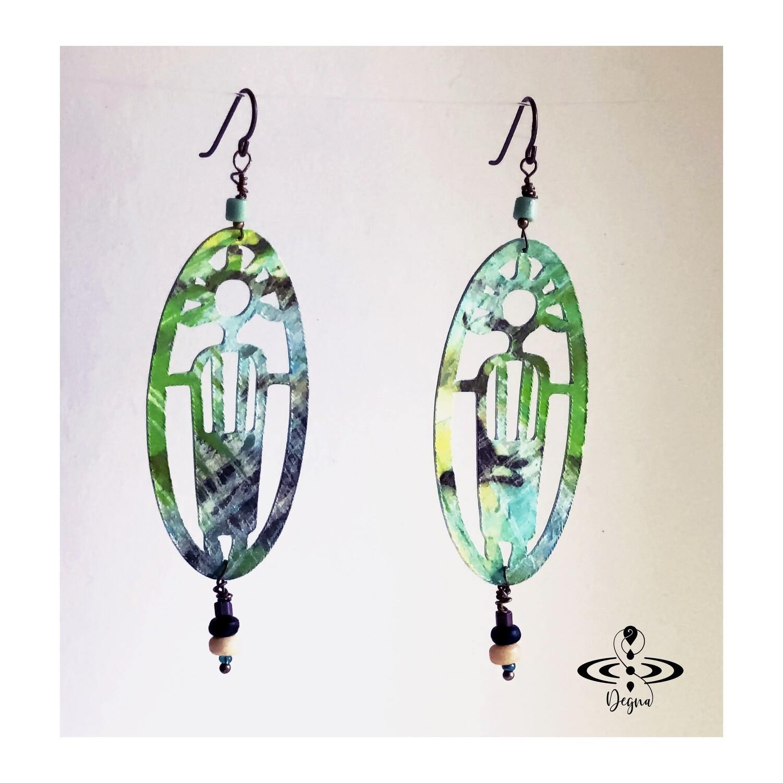 Primitive people earrings