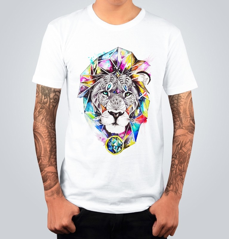 T-shirt COLORFUL LION Bianca