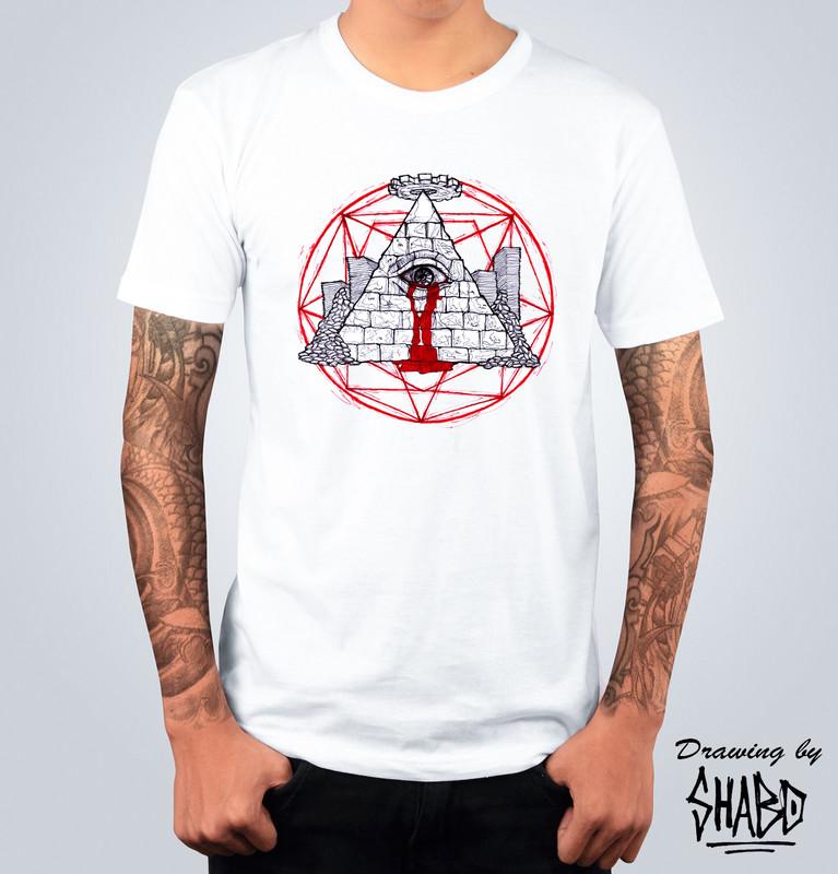 T-shirt Illuminati Bianca
