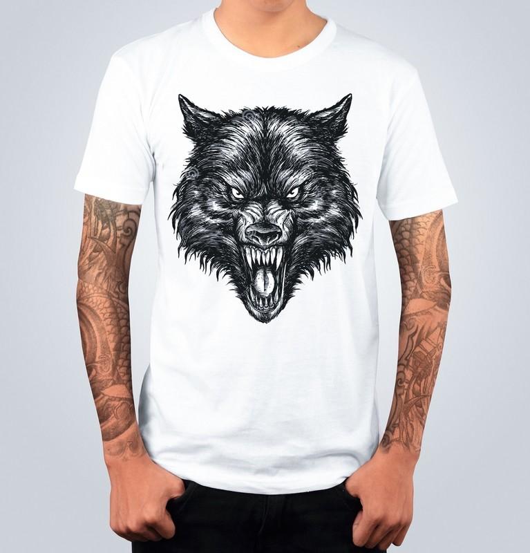 T-shirt THE WOLF Bianca