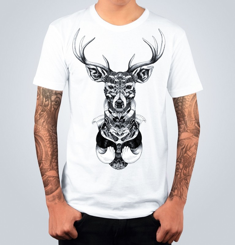 T-shirt DRAW DEER Bianca