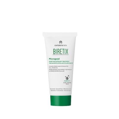 BIRETIX MICROPEEL. Tratamiento exfoliante purificante. Tratamiento cosmético que estimula la renovación celular e impide la obstrucción de los folículos.