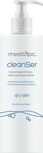 CLEANSER DRY SKIN Crema espumosa sin jabón para piel seca. Limpieza facial para pieles secas y sensibles 200ml