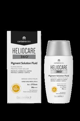 HELIO 360º PIGMENT SOLUT  FLUID SPF50+ 50ML. Fluido fotoprotector ultraligero para prevenir y corregir las hiperpigmentaciones solares y unificar el tono de la piel.