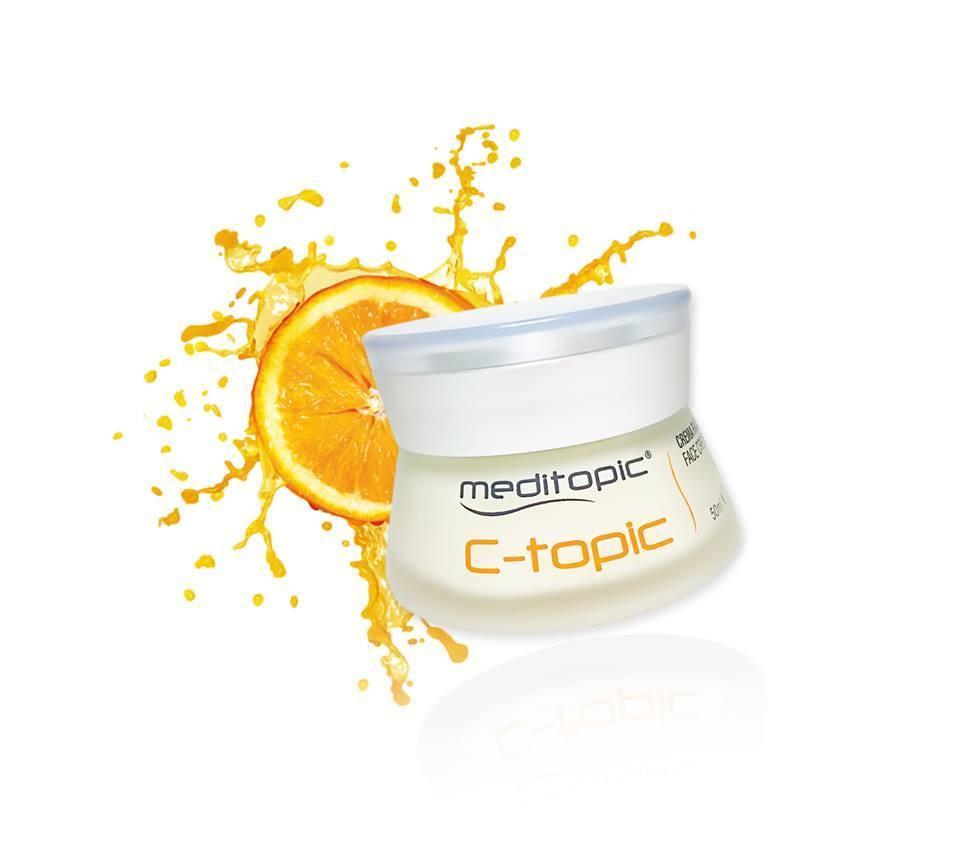 C-TOPIC Crema hidratante e iluminadora del rostro. 50ml. MEDITOPIC. Acción antioxidante de la vistamina C + tecnologia Photo-Glow..