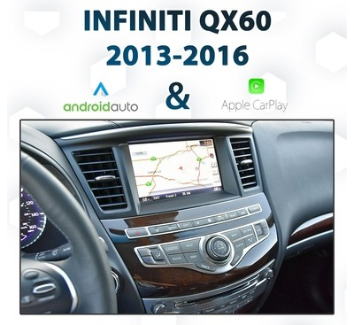 Infiniti QX60 2013 - 2019 Android Auto & Apple CarPlay Integration