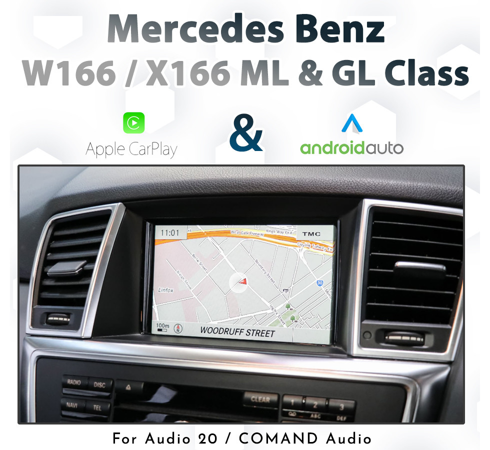 Mercedes Benz W166 / X166 ML & GL Class 2012 - 2015: Touch and Dial control CarPlay & Android Auto Integration