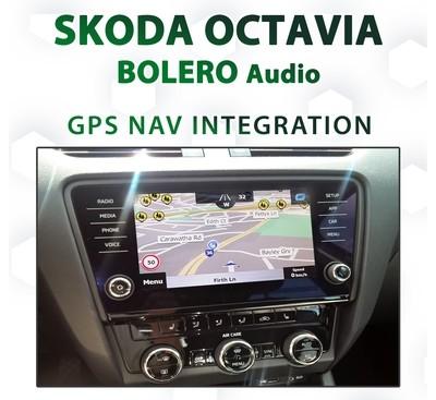 SKODA OCTAVIA 2018 - Current _ BOLERO audio integrated GPS Navigation - iGO Primo