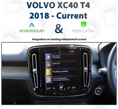 Volvo XC40 T4 2018 - Current CarPlay & Android Auto Integration pack