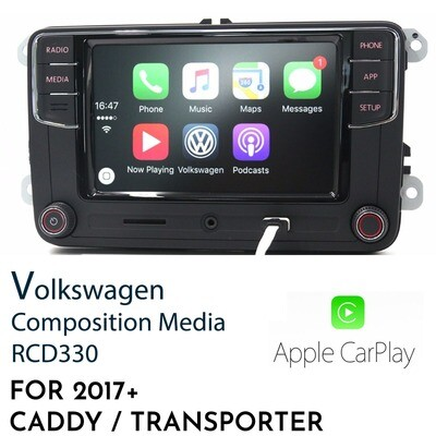 RCD330G Apple CarPlay Replacement headunit for Commercial VW - Caddy & Transporter and Amarok