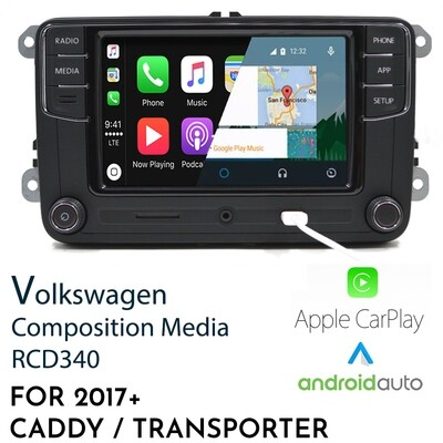 [Limited stock] RCD340 Apple CarPlay & Android Auto APPCONNECT Replacement Headunit for Commercial VW - Caddy / Transporter / Amarok