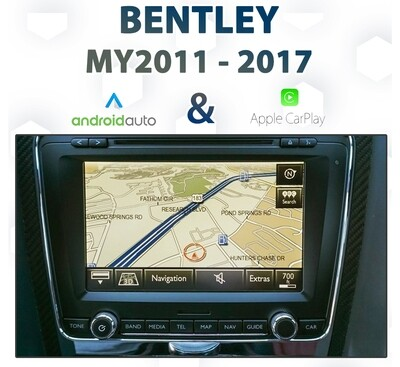 Bentley Continental 2011 - 2017/ Factory Audio Integrated Apple CarPlay & Android Auto