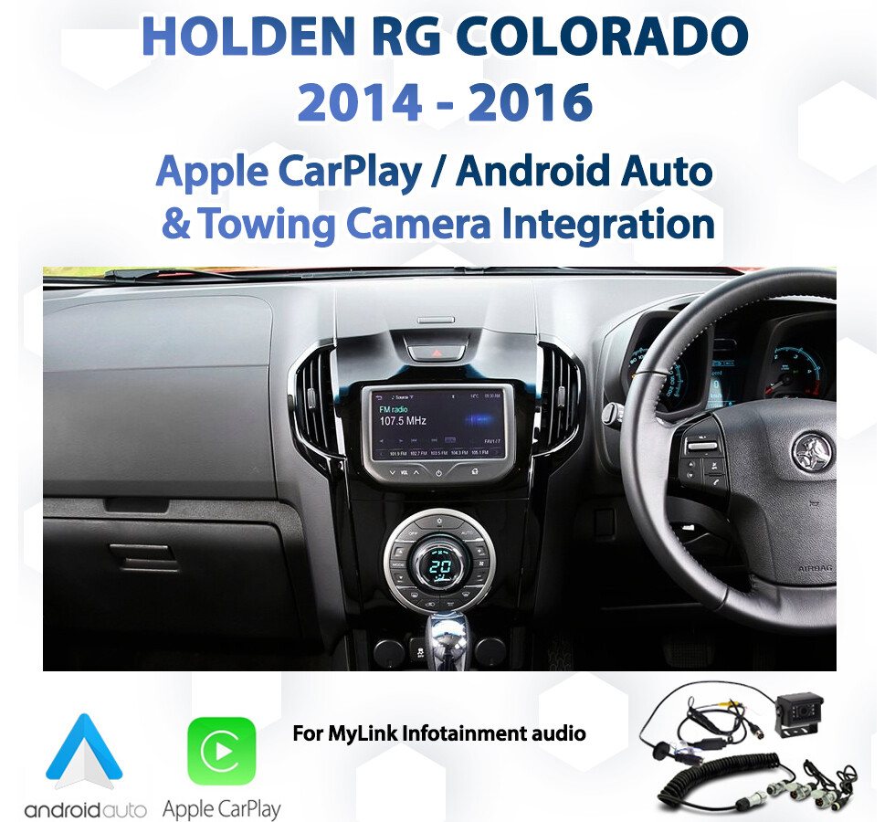 Holden RG Colorado - Apple CarPlay & Android Auto with Towing camera integration package