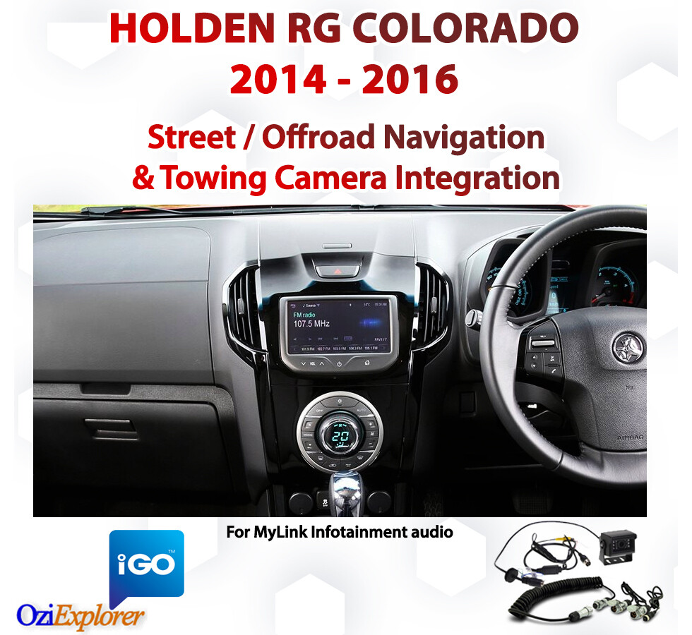 Holden RG Colorado - Offroad & Street Navigation with Towing camera integration package