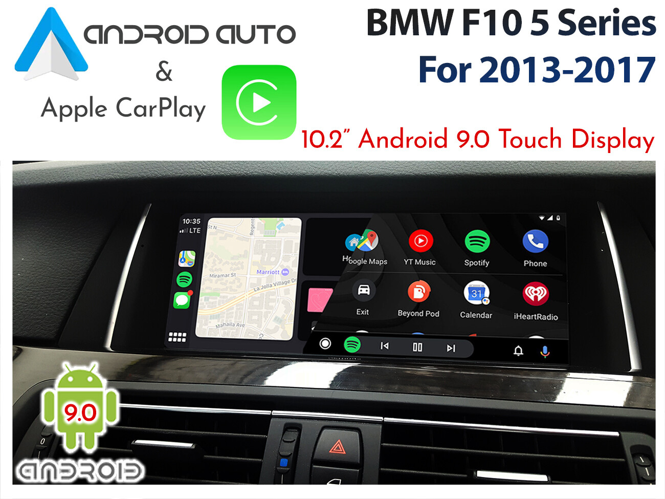 Bmw F10 5 Series 10 2 Android 8 1 Android Auto Apple Carplay Touch Display Upgrade