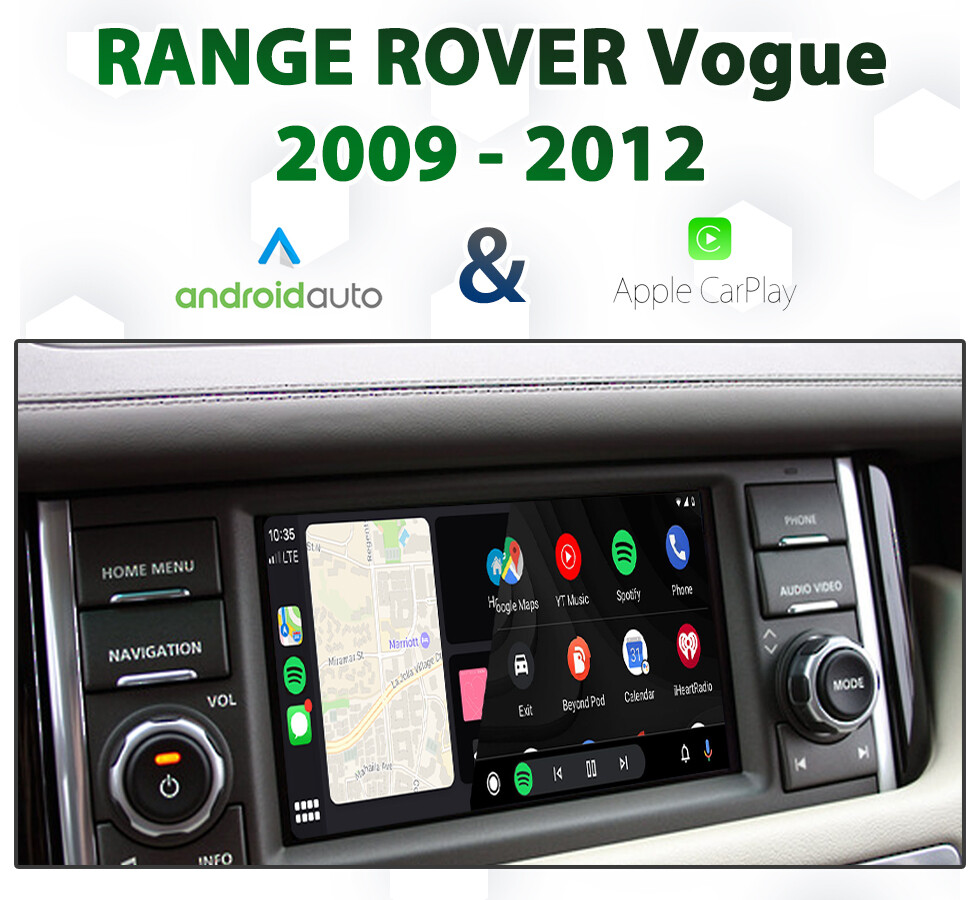 Range Rover VOGUE 2009 - 2012 Factory Audio Integrated Android Auto & Apple CarPlay Package Kit