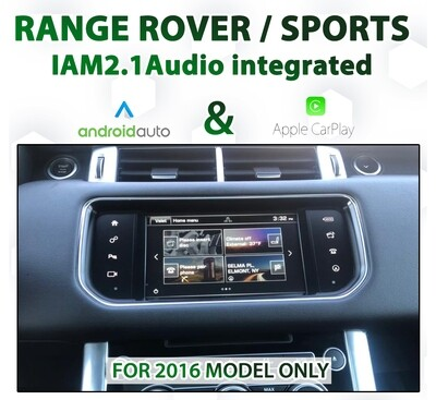 Range Rover / Sports 2016 - Apple CarPlay & Android Auto Integration - IAM21G