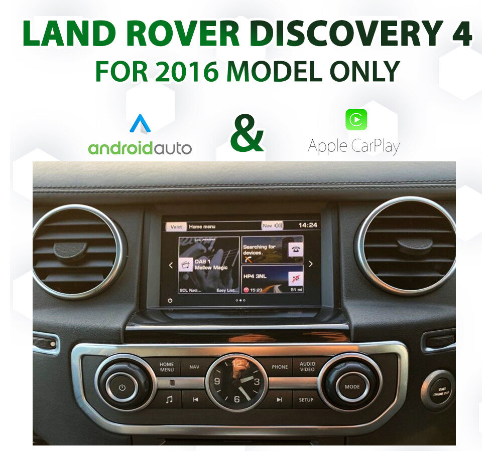 Land Rover Discovery 4 2016 Audio Integrated Android Auto & Apple CarPlay