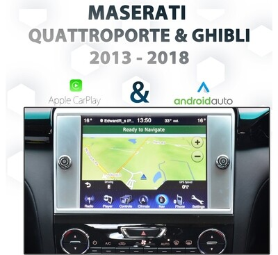 Maserati 6th Gen Quattroporte / Ghibli  2012 - 2016 UConnect Audio Integrated Android Auto & Apple CarPlay Package Kit