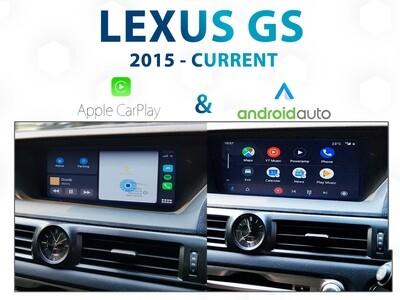 LEXUS GS 2015-Current / Apple CarPlay & Android Auto Integration