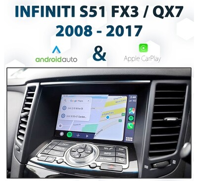 Infiniti S51  2008 - 2017 : Android Auto & Apple CarPlay Integration for FX30 / QX70
