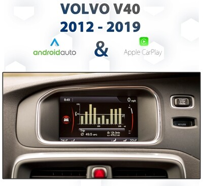 Volvo V40 / Cross Country 2012 - 2019 Apple CarPlay & Android Auto Integration pack
