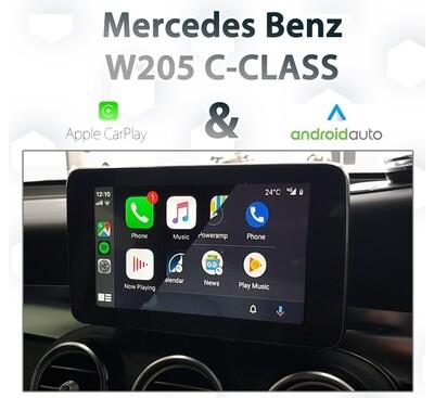 Mercedes Benz W205 C-Class - Apple CarPlay & Android Auto Integration