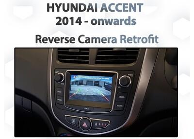 Hyundai Accent RB - Reverse Camera retrofit pack