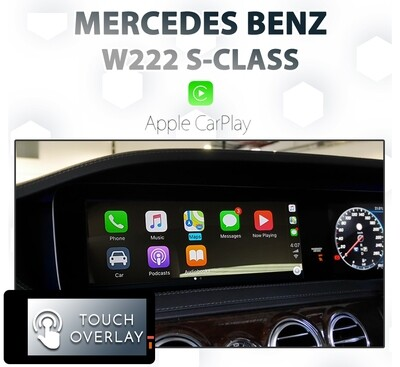 Mercedes Benz W222 S-CLASS Touch overlay Apple CarPlay Integration