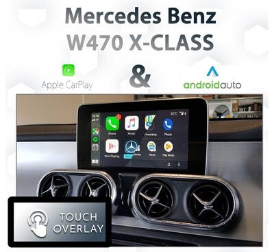 [NTG5 COMMAND] Mercedes Benz W470 X-Class - Touch overlay Apple CarPlay & Android Auto Integration
