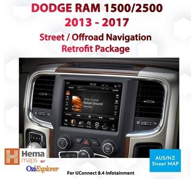 Dodge RAM UConnect 8.4 - Australian Street & Offroad Map Integration