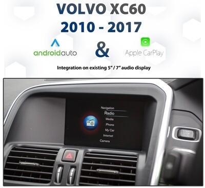 Volvo XC60 2010 - 2018 Apple CarPlay & Android Auto Integration pack