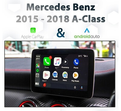 Mercedes Benz W176 A-Class [2015 - 2018] Apple CarPlay & Android Auto Integration