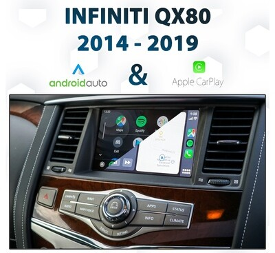 Infiniti QX80 2014 - 2019 Android Auto & Apple CarPlay Integration