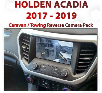 Holden / GMC Acadia  : MyLink Integrated Caravan / Towing Camera add on pack