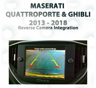 Maserati 6th Gen Quattroporte / Ghibli 2012 - 2016 UConnect Audio Integrated FRONT VIEW CAMERA Package Kit