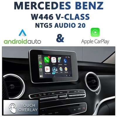 [NTG5 AUDIO20] Mercedes Benz W446 V-Class - Touch and Dial control Apple CarPlay & Android Auto Integration