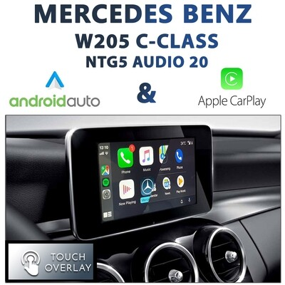 [NTG5 AUDIO20] Mercedes Benz W205 C-Class - Touch and Dial control Apple CarPlay & Android Auto Integration