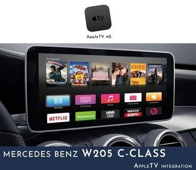 Mercedes Benz W205 C-Class NTG5 Audio - AppleTV Integration