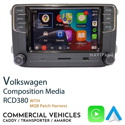 Volkswagen RCD380 for Commercial vehicles - CarPlay / Android Auto Infotainment headunit