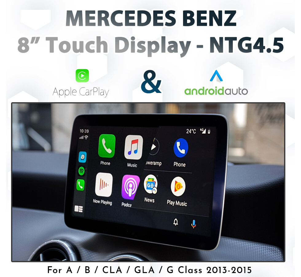 "[NTG 4.5] Apple CarPlay & Android Auto + 8"" Touch Display Integration pack"