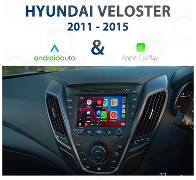 Hyundai Veloster 2011 - 2015 : Apple CarPlay & Android Auto retrofit upgrade