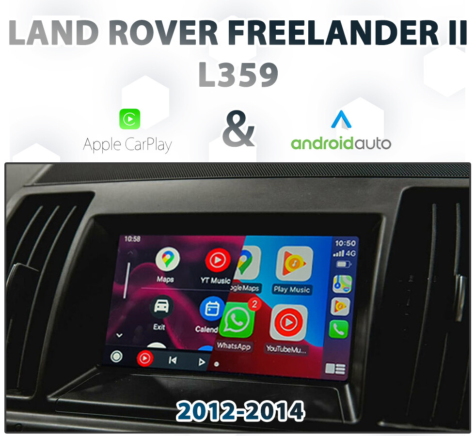 [2012-15] LAND ROVER L359 FREELANDER II - Apple CarPlay & Android Auto Integration