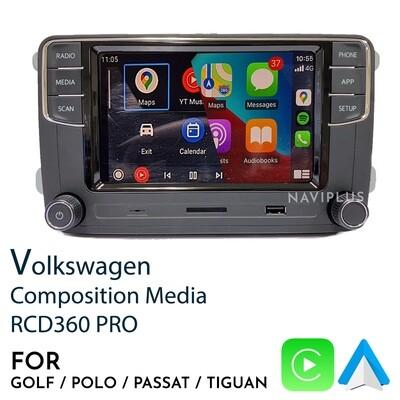 Volkswagen RCD360 PRO - CarPlay / Android Auto Infotainment headunit
