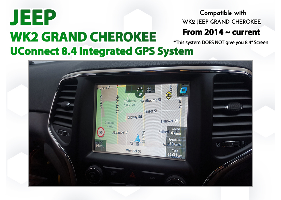 [2013 - 2017] Jeep WK2 Grand Cherokee UConnect 8.4 - GPS NAV Integration